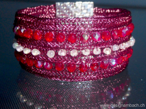Armband in bordeaux